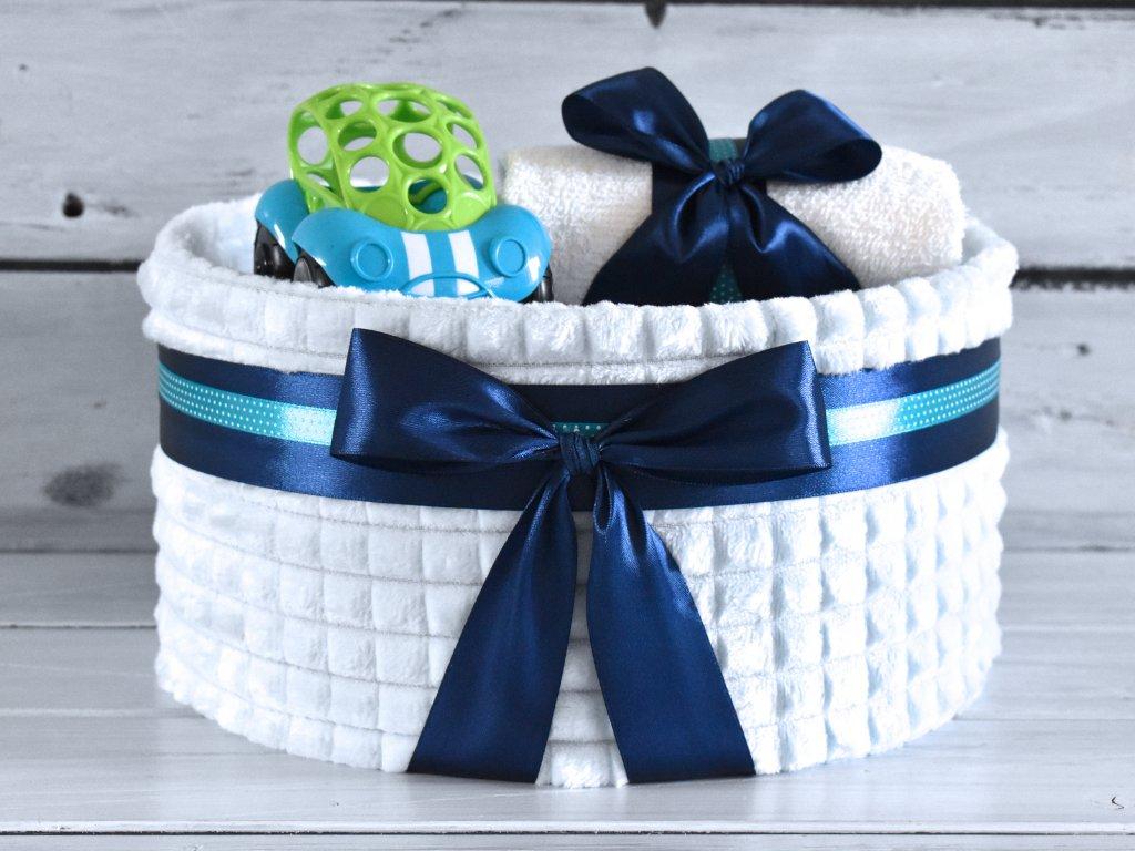 Plenkovy dort k 1. narozeninam modra deka