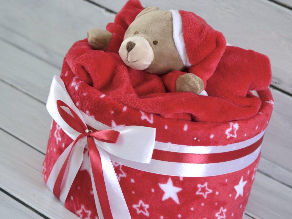 Vánoční jednopatrový plenkový dort 1