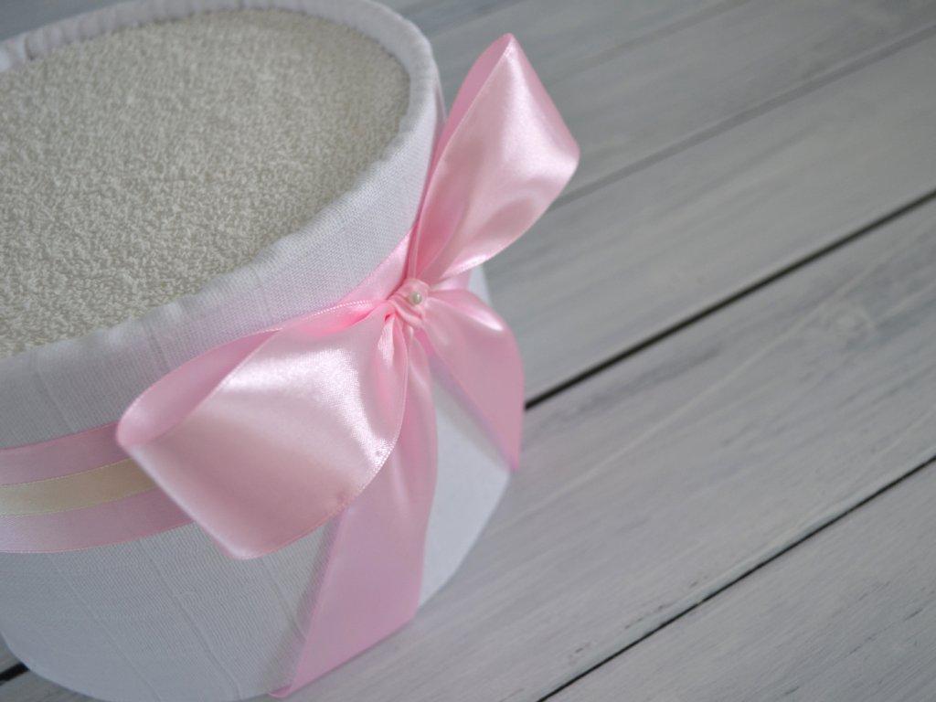 Mini plenkový dort růžový, pro holčičku