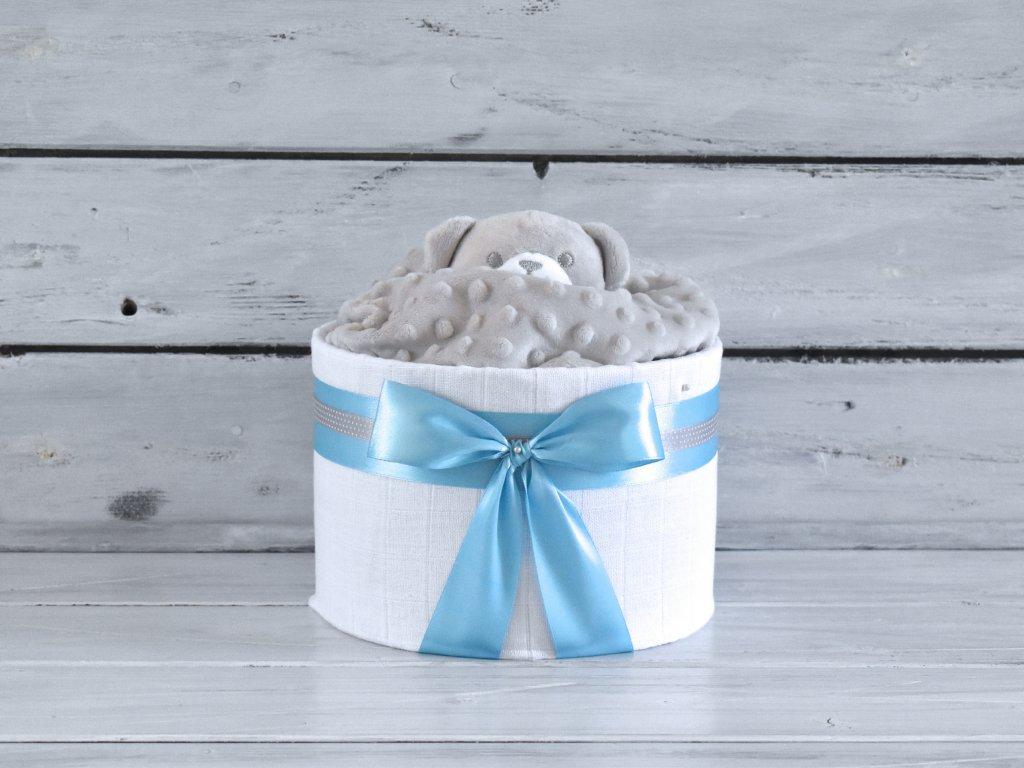 Mini plenkový dort s medvídkem usínáčkem 2