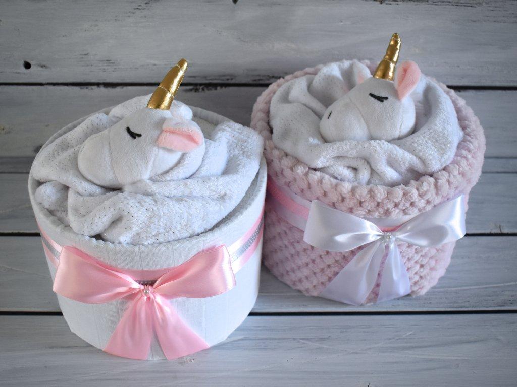 Mini plenkový dort pro holčičku s jednorožcem 1
