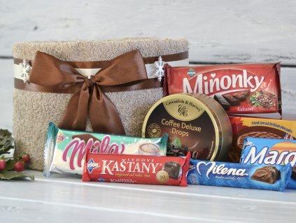 Mini vánoční ručníkový dort sladký