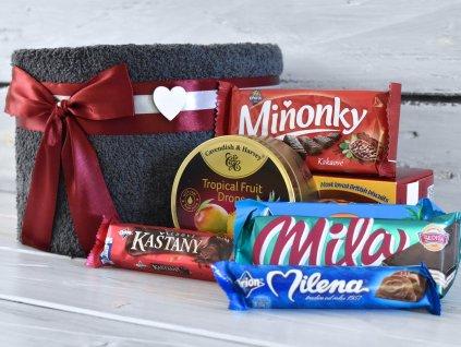 Mini ručníkový dort sladký