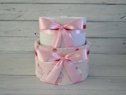 Dvoupatrový plenkový dort I. cupcakes