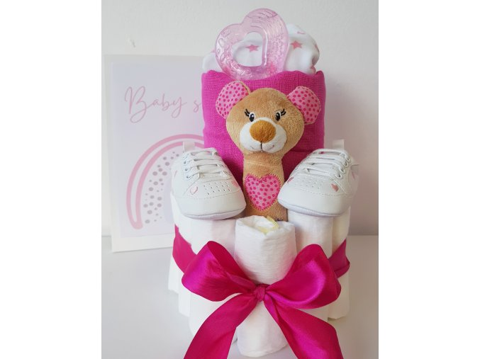 Mini plenkový dort - pink tm.
