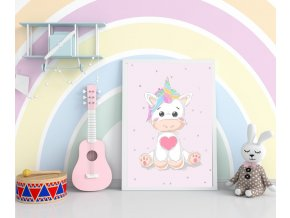 Plakát - unicorn baby