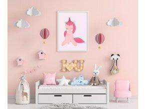 Plakát - unicorn pink