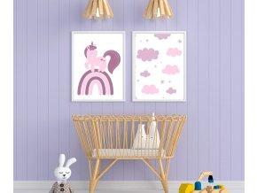 Plakát - unikorn fialový