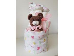 Mini plenkový dortík - pink