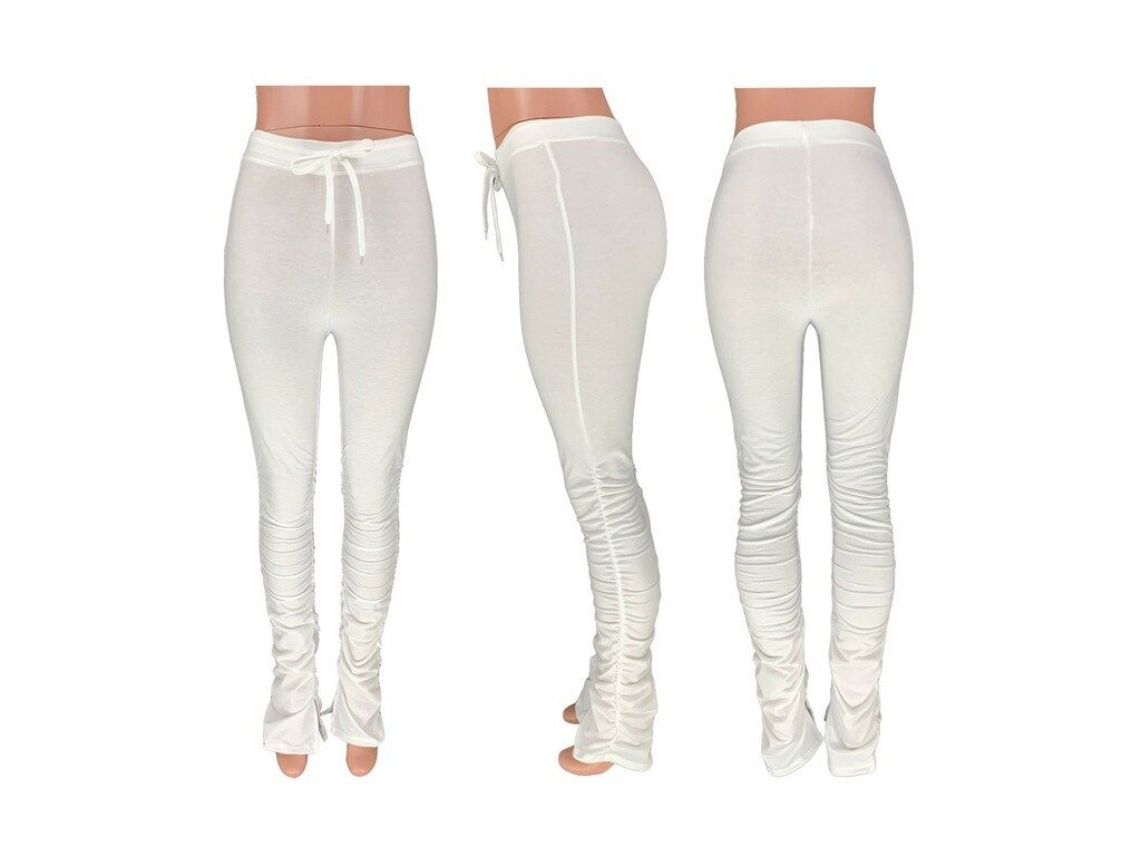 Tracksuits Elastic Waist Stacked Leggings Joggers Female Stacked (2)