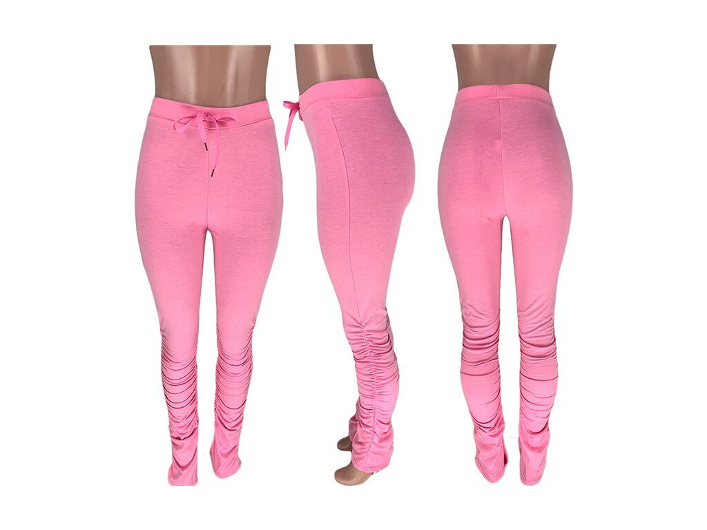 Tracksuits Elastic Waist Stacked Leggings Joggers Female Stacked (1)
