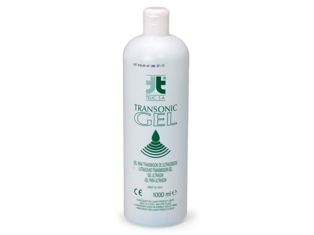 0005501 transonic gel colorless pro ultrazvukova vysetreni 1 000 ml