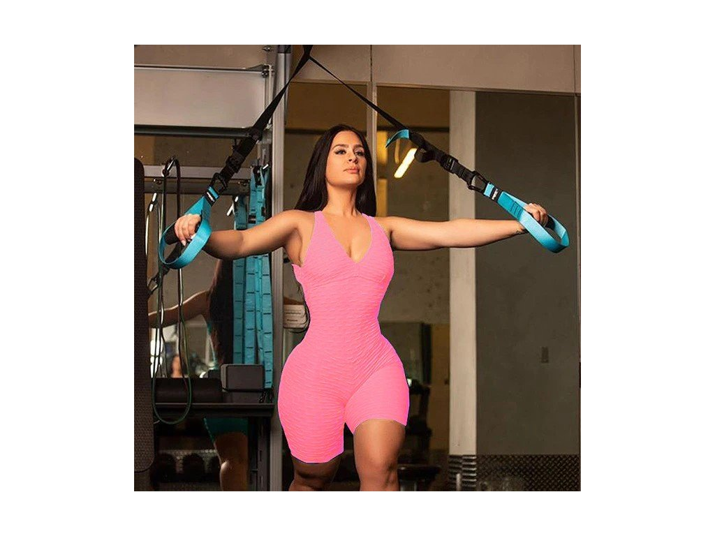 NEW Sexy Booty Yoga Set For Women One pieces Skinny Sports Suit Bandage Gym