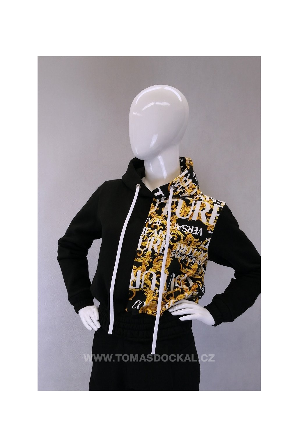 Mikina s teplákovinou značky Versace / černá