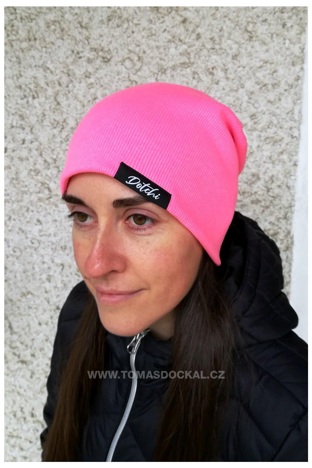 Čepice Hat No.4 Růžový neon