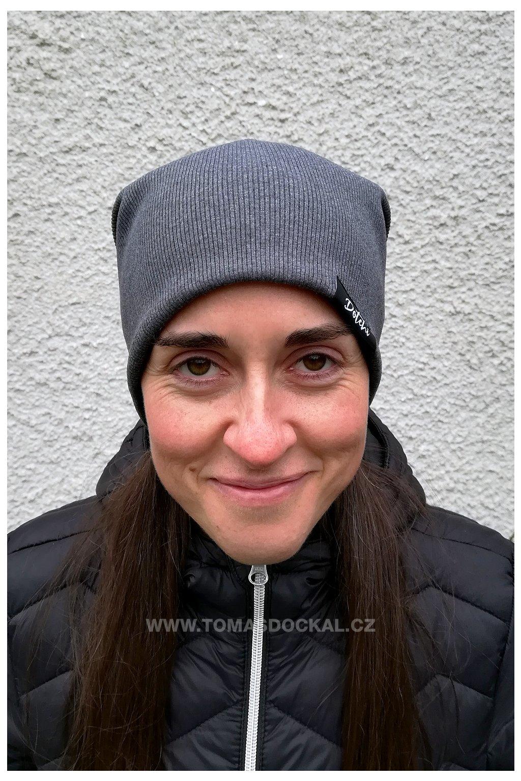 Čepice Hat No.4 Tmavě šedý melír