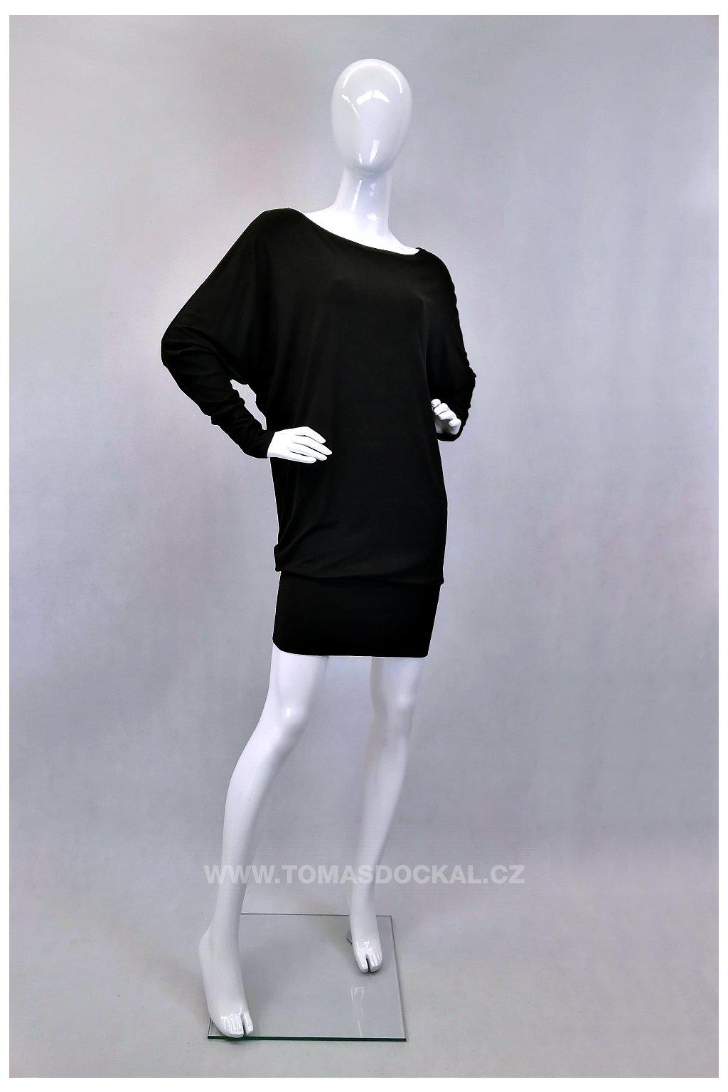 Šaty a tričko v jednom! UNI / černé
