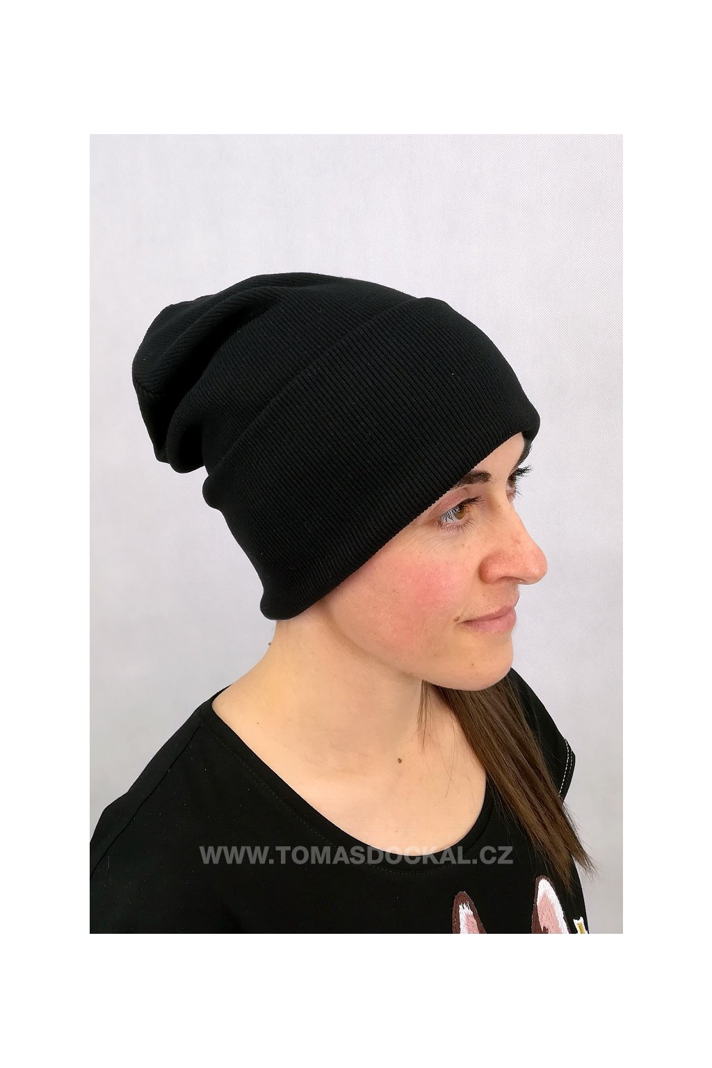 Čepice Hat II Černá s lemem