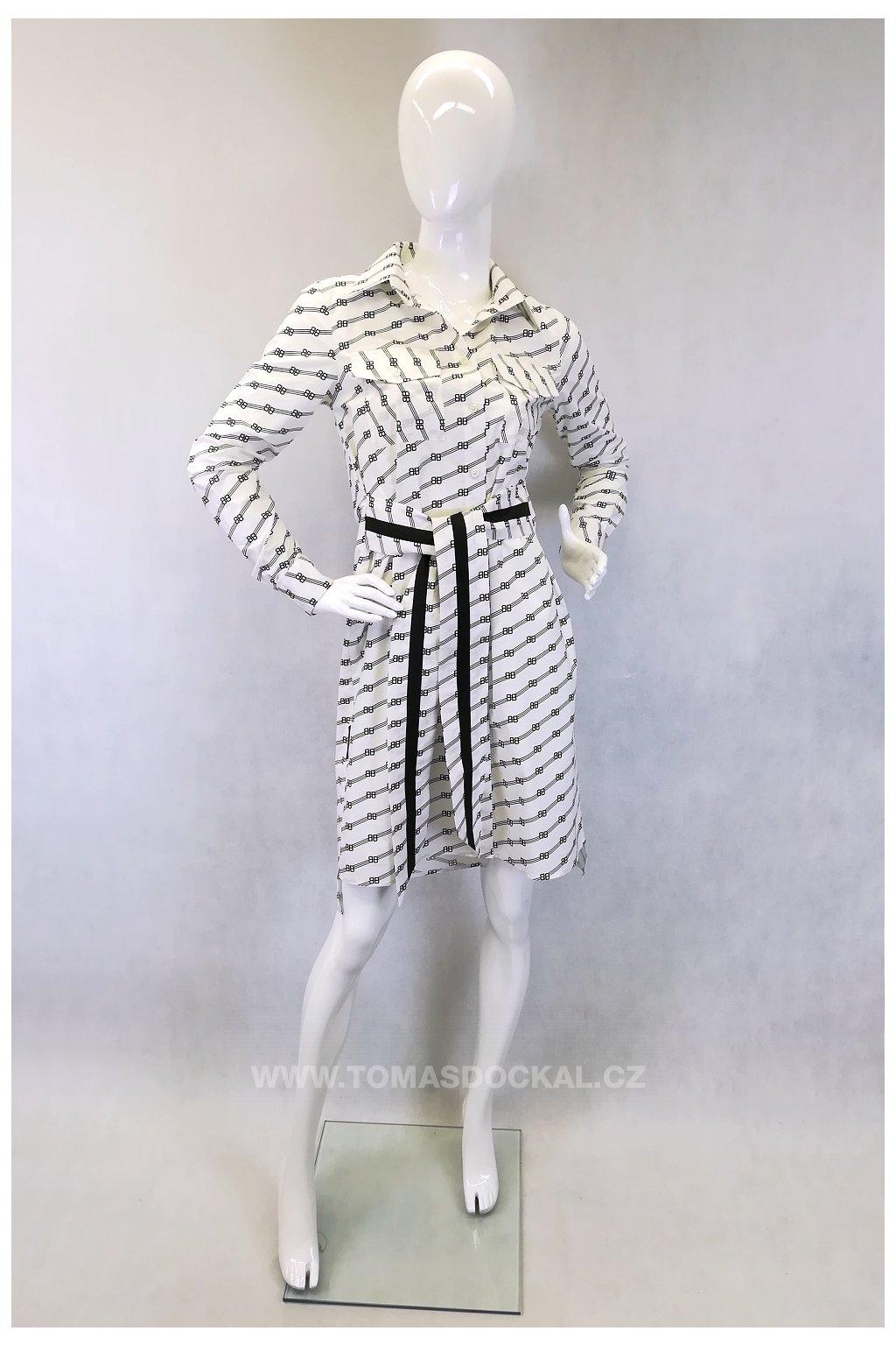 Košilové šaty z materiálu od značky Balenciaga