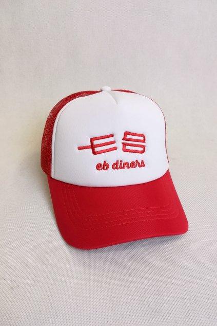 Kšiltovka EB diners Trucker / červenobílá