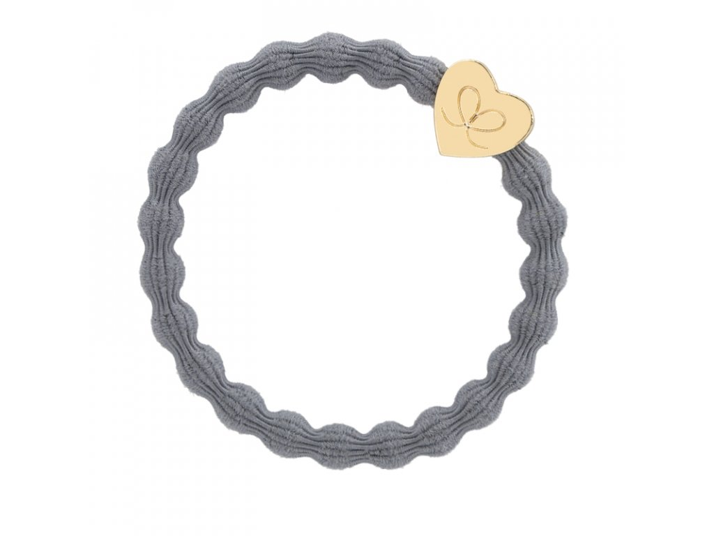 Gold Heart Storm Grey