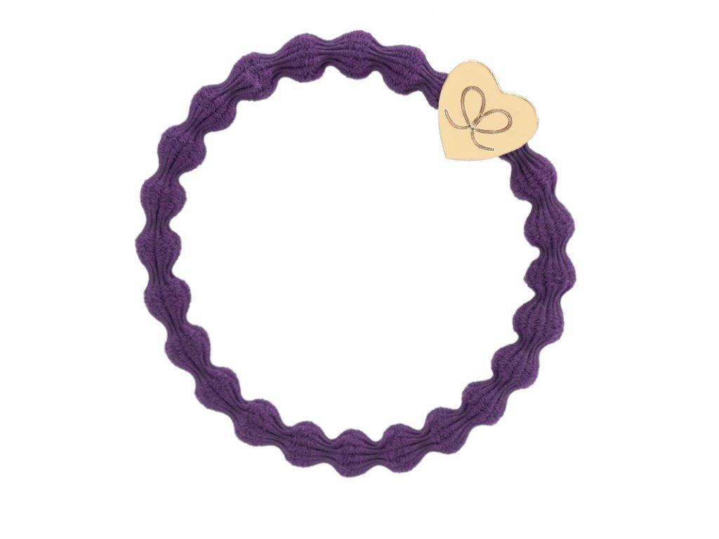Gold Heart Purple