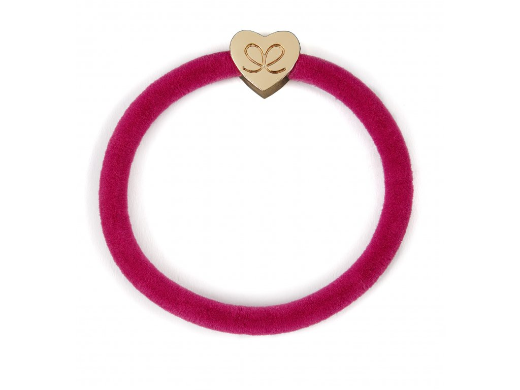 Velvet Gold Heart Fuchsia HR