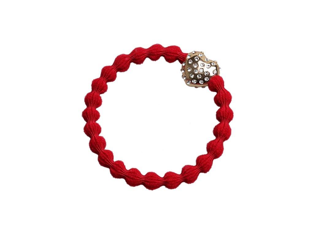 Cherry Red Diamantee BubbleHeart 30 066