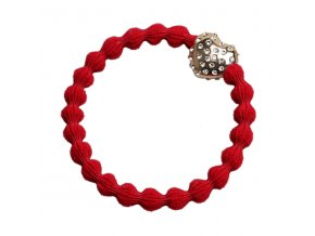 Cherry Red Diamantee BubbleHeart 30 066