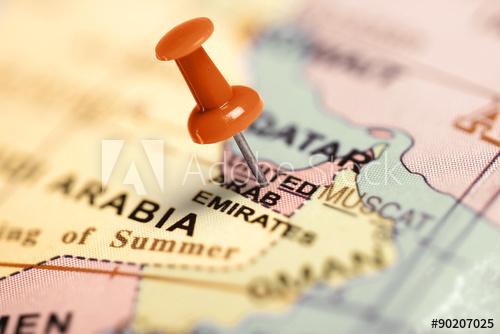 mapa UAE