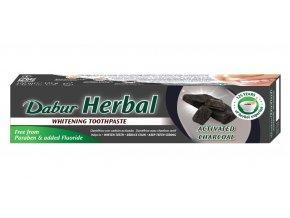 Bylinná pasta na zuby s aktivním uhlím Dabur Herbal
