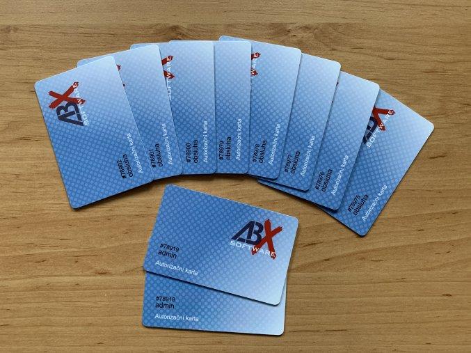 Sada karet RFID s logem ABX (8+2 admin)