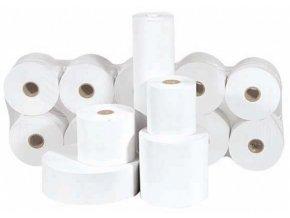 Papírové termo kotoučky 80/70/12mm,velký návin, průměr 7cm (pro termo tiskárny)