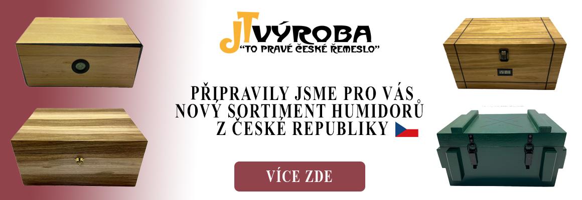 Krasné a excluzivní humidory pro doutníky české výroby.