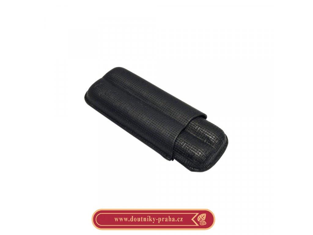 Pouzdro na 2 doutníky Etue černé matné 160mm