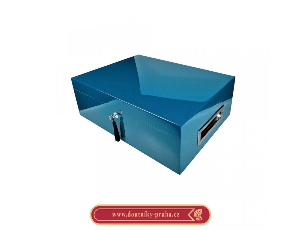 Humidor na doutníky Villa Spa modrý