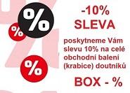 Poskytneme Vám slevu 5-10 % na celé obchodní balení - krabici (BOX) doutníků