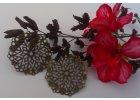 Filigrán / kovový výřez květinový 35mm, bronz