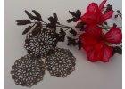Filigrán / kovový výřez květinový 35mm, měď