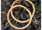 Bambusové kruhy, lakované