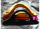 Tvarovaná vintage dřevěná ucha ve třech barvách