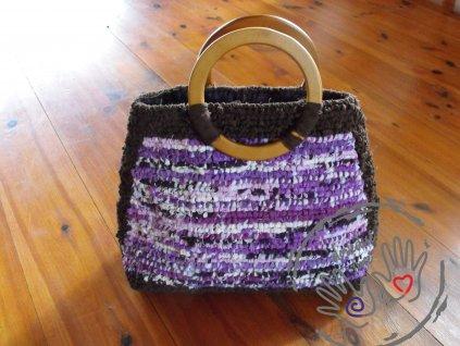 Originální kabelka ve fialovo-hnědé kombinaci