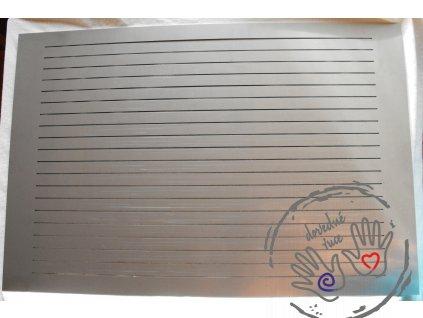 Nerezová (austenitická) řezací deska/šablona 30x40 cm