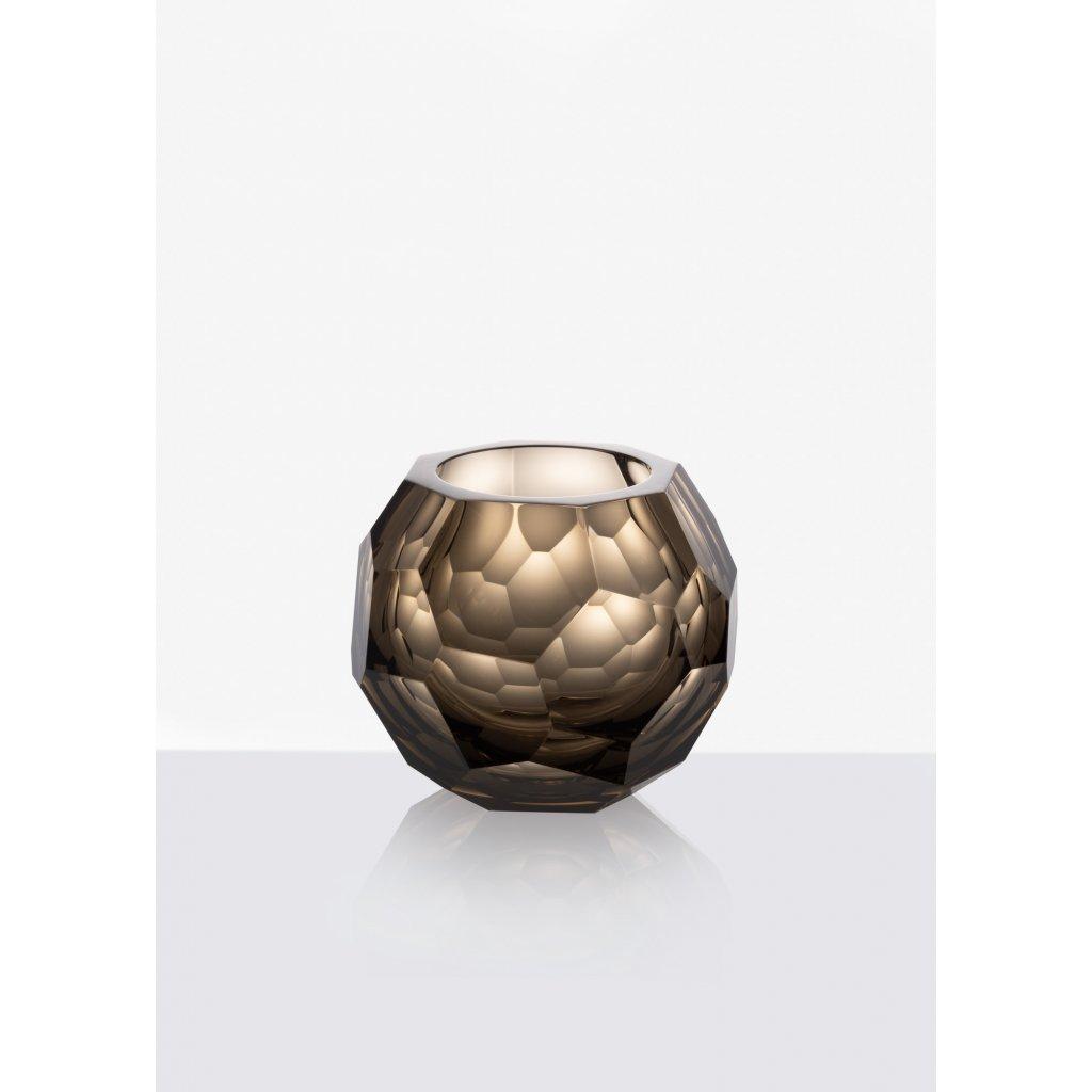 Cubism candleholder smoke small