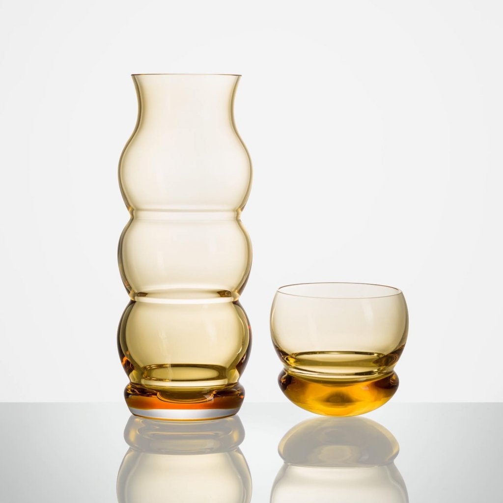Bubble Carafe amber