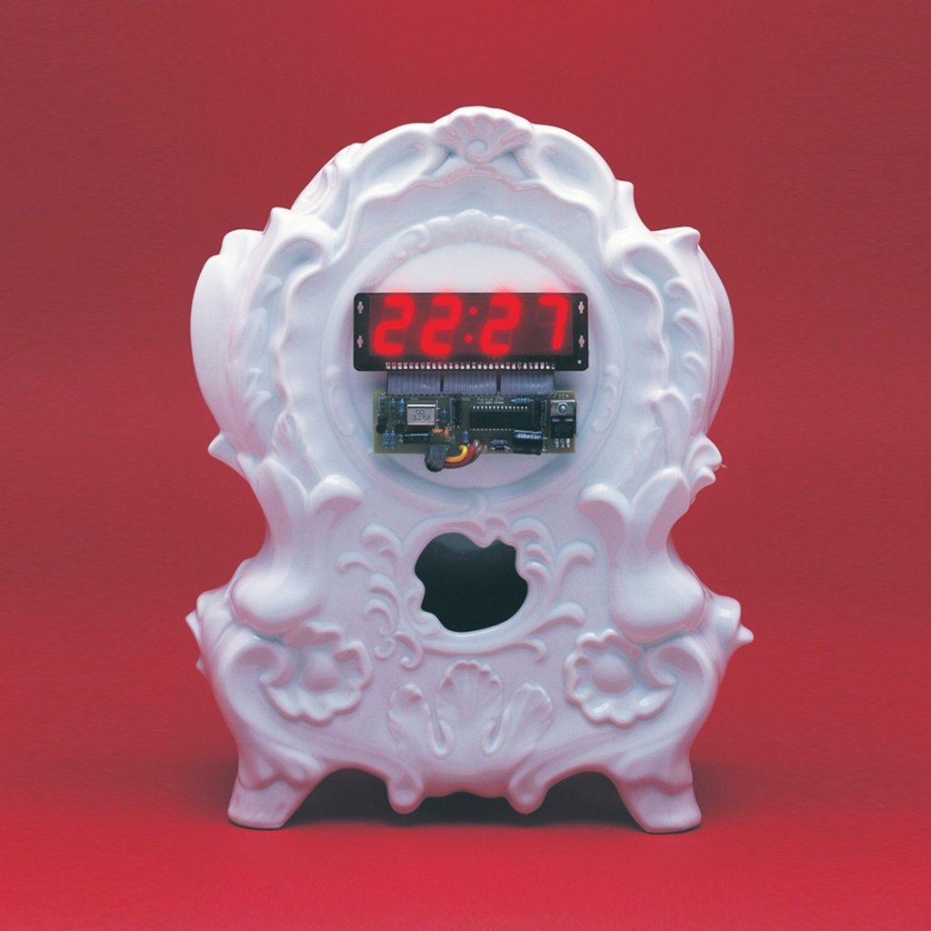 qubus maxim velcovsky digi clock white