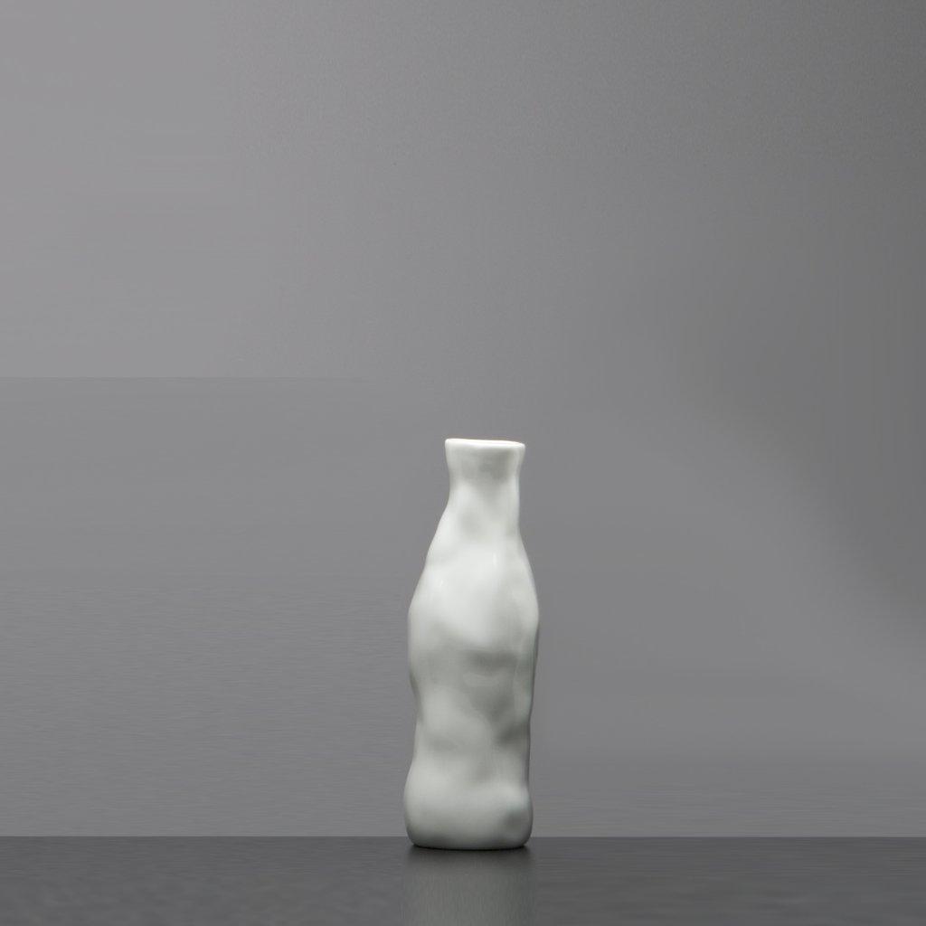 Abstraktní váza bílá asbtract vase qubus od Maxima Velčovského