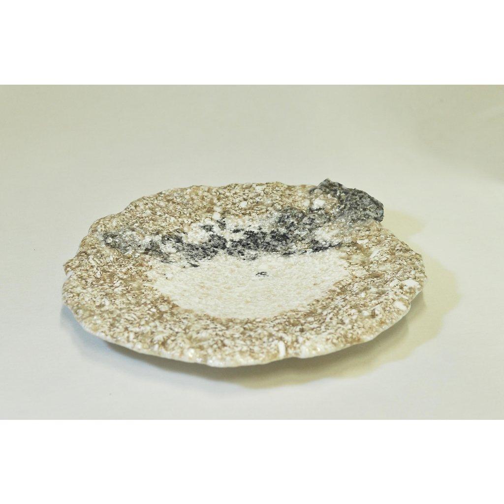 Žulová mísa bíločerná mělká