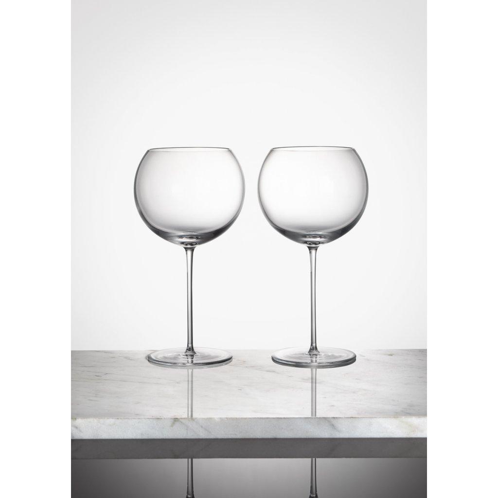 Bubble Glass Wine Set of 2 pcs transparent
