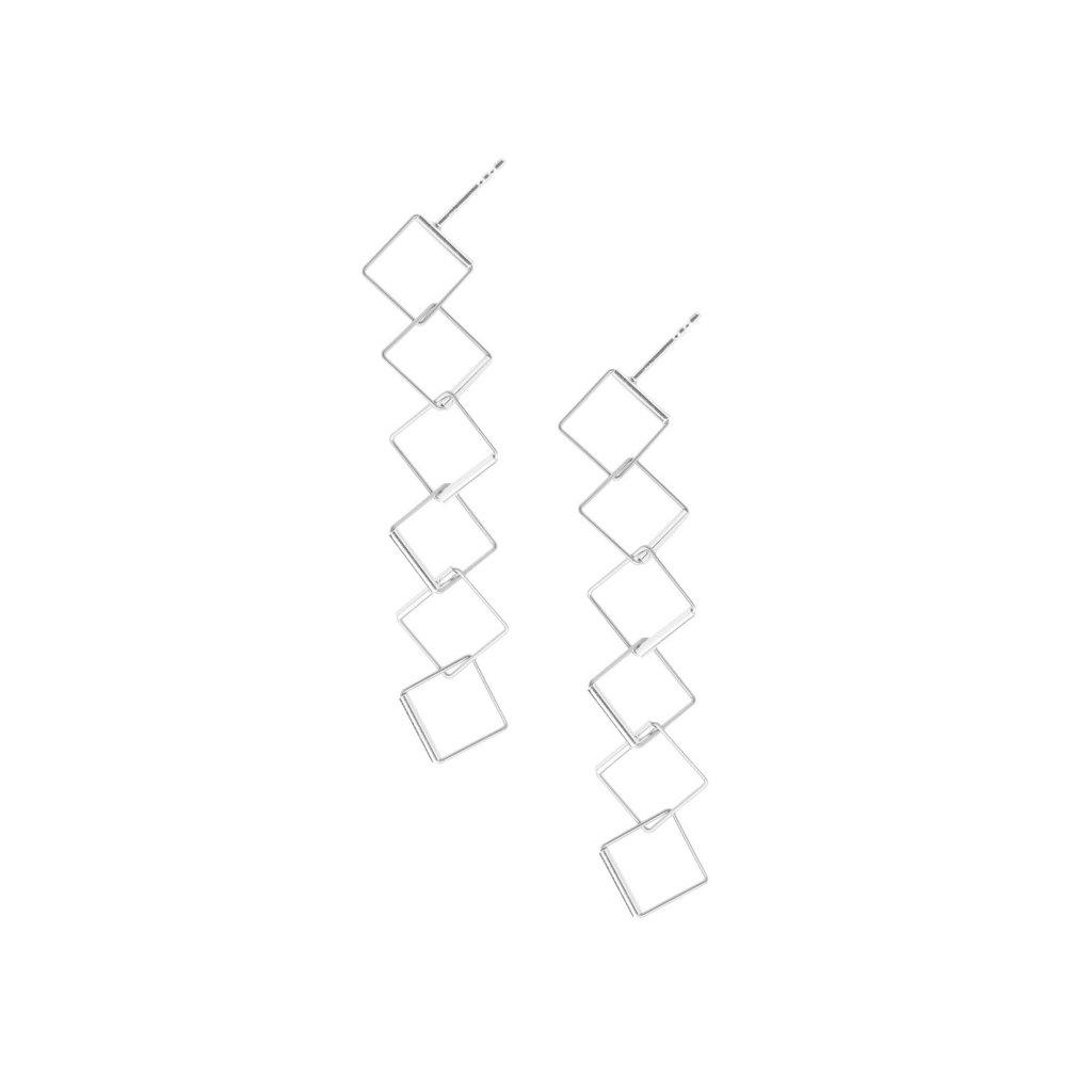 Cube náušnice 6 čtverců